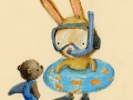 DeWitt_bunny with bear and snorkel
