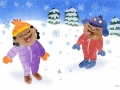 Raff kids in snow