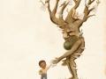 O'Rourke WRITE kid and tree