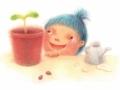 SakiTanaka_child and plant