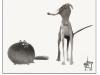 Ludvicek fat cat tall dog